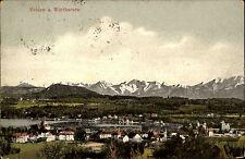 Velden am Wörthersee Kärnten Postkarte ~1910 Gesamtansicht mit See und Gebirge