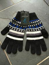 Paul Smith Blue FAIRISLE Gloves - 100% Wool - BNWT