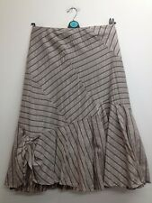 Principles - Beige Mix Sparky Striped Asymmetric Skirt Size Uk 10 (P703)