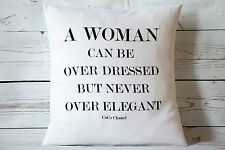 "Coco Chanel Quote - 16"" cushion cover French shabby vintage chic"