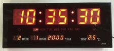Wunderschöne rot LED digital Wanduhr mit Datum Temperatur Alarm Clock Angebot
