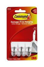 Command 3M 17067 Small Hanging Stick on Hook Strong Plastic Sticky Hooks White