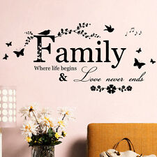 Family Wall Sticker Quotes Removable DIY Art Vinyl Home Decor Decal Mural PVC