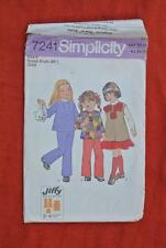 #7241 Simplicity JIFFY Sewing PATTERN Girls Tunic Dress-Top-Pants Size 5yrs
