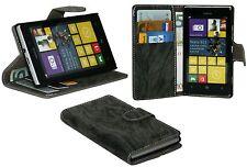 Book-Style Handyhülle Case Cover für Nokia Lumia 925 + Folie // Anthrazit
