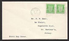 13074 - Dt. Bes. 2. WK, Kanalinseln - Jersey, Mi.-Nr. 1 (2), auf Brief als FDC.
