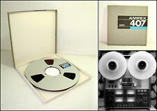 "AMPEX 407 10.5"" Metal Reel to Reel Recording Tape (2500 ft)"