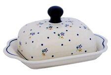 Original Bunzlauer Keramik Butterdose für 1 Stück Butter (250g) Dekor 111