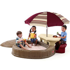 Sand Pit Water Box Table Toy Children Outdoor Play Plastic Set Step2 Maroon
