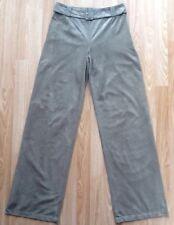 NEW PER UNA / M&S Faux Suede Wide Leg Trousers Size 8 Long Pale Khaki NWT