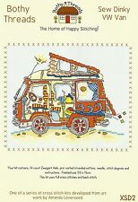 BOTHY THREADS SEW DINKY VW VAN COUNTED CROSS STITCH KIT 20x15cm NEW MAY 2014