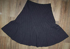MEASUREMENTS IN DESCRIPTION - designer CAPTURE lge BROWN STRIPED TEXTURED SKIRT