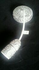 """SILVER CRYSTAL Diamante Chandelier Ceiling Rose Light Lamp Pendant Shade 12"""""""