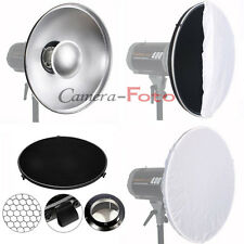 Studio Beauty Dish 42cm Bowens S type with Honeycomb and White Diffuser Softbox