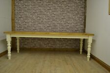 8ft x 3ft, 10 seater Solid Pine Farmhouse Dining Table country style painted