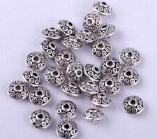 100pcs Antique Fashion Tibetan Silver Spacer Beads 6.5mm For Jewelry Making