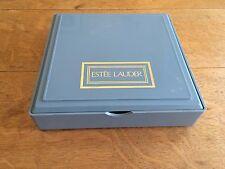 Vintage Plastic Blue Estée Lauder Make Up Box Jewellery Case With Mirror