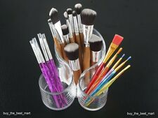 Clear Acrylic Makeup Nail Brush Holder Organiser Cosmetic Display Storage Case