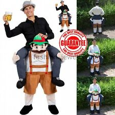 Carry Me Bavarian Beer Guy Ride On Oktoberfest Mascot Fancy Dress Costume Unisex