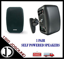 """Work NEO5A powered speakers /monitors PAIR - 5"""" 25w with wall brackets NEW"""