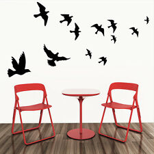 Wall Decals Black Fly Birds Mural Stickers Removable Home Room Decor Vinyl DIY
