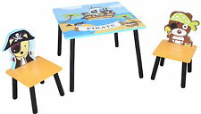 Pirate Themed Childrens Wooden Table and Chair Set - Kids Toddlers Childs - NEW