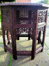 STUNNING LARGE ANTIQUE OCTAGONAL ROSEWOOD  ANGLO/ INDIAN   SIDE TABLE