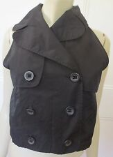 Cooper St black double-breasted trenchcoat-style sleeveless top size 10 (US 6)