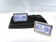 JAWS CAR NUMBER PLATE AMITY SHARK AUTOPSY MENS CUFFLINKS CUFF LINKS GIFT