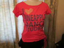 PINEAPPLE,  PINK GRAPHIC CREW NECK  T-SHIRT/TOP ,AGE 15/16 YEARS