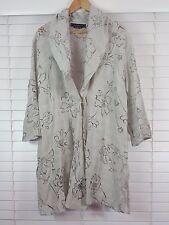 MAGGIE T sz 18 womens Linen Blend Floral Cut Out Jacket [#326]