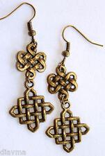 Bronze double Celtic Knot EARRINGS Jewellery