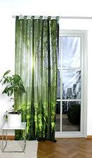 Digital bedruckter Schlaufenschal Vorhang Schal mit Motiv 120x245cm grüner Wald
