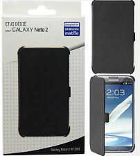 Samsung Anymode Black Book Wallet Flip Case Cover for Galaxy Note II Note2 N7100