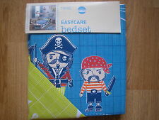NEXT PIRATE BOYS BLUE JUNIOR SIZE BED SET DUVET TODDLER PIRATES AHOY