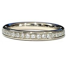 Brand New 0.50 Carat Round Diamond Pave Set Full Eternity Ring in 9k White gold
