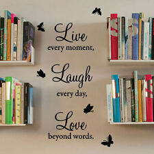 Live Laugh Love Wall Quote Stickers Wall Decals Wall Art decorations Letter 422t