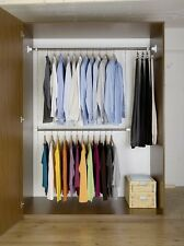 Extendable Wardrobe Rail Support Clothes Rod Storage System Organizer Rack New