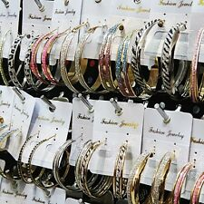 Special Offer 10Pairs Frosted Silver Gold Hoop Earrings for Women Wholesale Lots