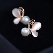 Hot Women Ladies Girls Crystal Butterfly Ear Stud Earrings Jewelry Gift Earring
