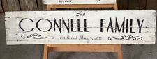 LARGE Timber Family Rustic Vintage Wall Sign Hanging Art French Provincial