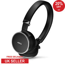 AKG N60 NC Noise Cancelling Headphones with Remote & Mic Black - NEW