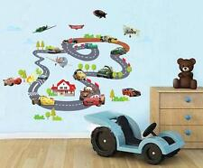 Cartoon Cars Children Vehicle Home Room Removable Wall Stickers Decal Decoration