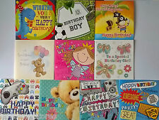 PACK OF 10 CHILDRENS BIRTHDAY CARDS 10 BOYS / GIRLS GREETINGS CARDS FOR KIDS