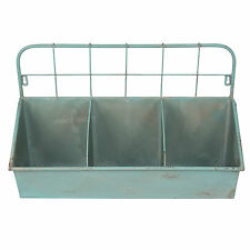 Vintage Wall Mounted Industrial Metal Shelving Unit Shabby Chic Display Storage