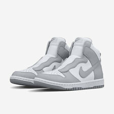NIKE SACAI X NIKELAB DUNK Wolf Grey Leather Shoes Size UK 8  New Trainers