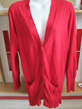 ATMOSPHERE - RED CASHMERE TOUCH FINE KNIT CARDIGAN  SIZE 8/36