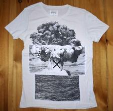 """ALL SAINTS """" ELEMENTS SLOUCH CREW"""" T-SHIRT TEE TOP - SIZE S SMALL WHITE"""