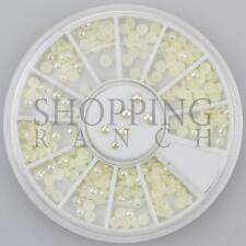 Nail Rhinestones Gems Art Diamante Fashion Glitter Jewels Beige Colour Pearls