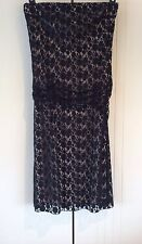 Womens Seduce Cocktail Formal Black Lace Strapless Dress Size 12